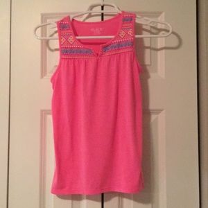 Never worn girls pink tunic tank